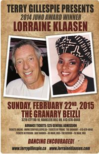 Terry Gillespie Presents 2014 Juno Award Winner Lorraine Klaasen - Vankleek Hill, ON, 2015-02-22