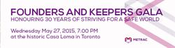 Founders and Keeper Gala, Toronto, 2015-05-27
